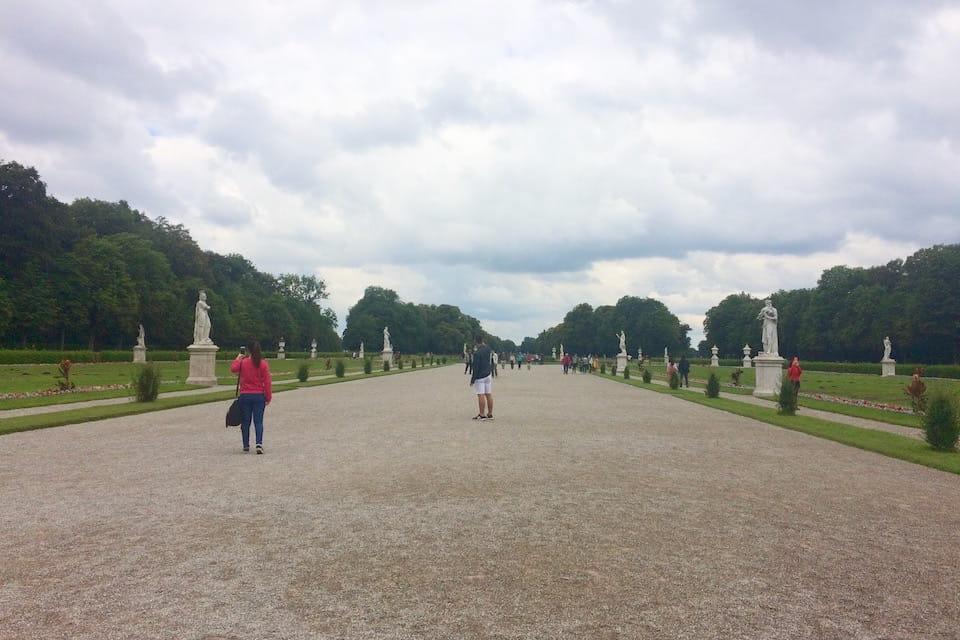 ミュンヘンのニンフェンブルク宮殿の庭園